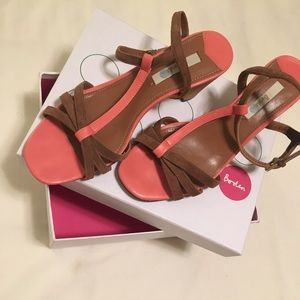 Boden Strappy Sandals Heels Leather 38
